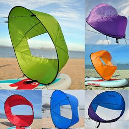 "42"" Portable PVC Downwind Wind Paddle Popup Board Kayak Sail"