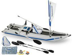 Sea Eagle 435PS QuickRow 4-in-1 Paddleski Kayak Cat Pontoon-