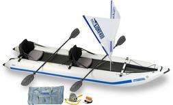 Sea Eagle 435PS QuickSail Pkg Paddleski Inflatable Catamaran