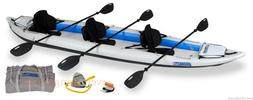 Sea Eagle 465ft Pro Package Inflatable Fast Track Kayak W/ 3