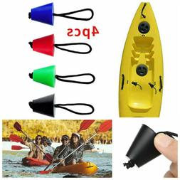 4Pcs/Set Rubber Canoe Ocean Kayak Boat Scupper Plugs Drain H