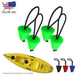 4PCS Silicone Kayak Scupper Plug Kit Canoe Drain Holes Stopp