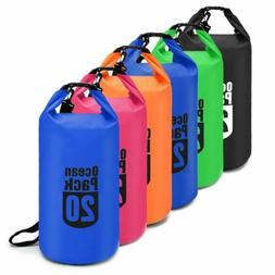 5 10 20L PVC Waterproof Dry Bag Sack Kayak Drifting Canoe  B