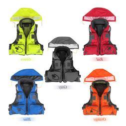 5 Colors Men Outdoor Kayak Life Jacket Fly Fishing Multi poc