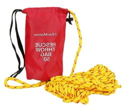 50ft throw bag buoyant rescue throw rope