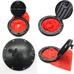 "6.8"" Deck Plate Kit Hatch W Cat Bag For Kayak Boat Fishing R"