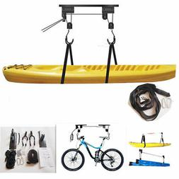 Kayak Hoist Bike Lift Pulley System Garage Ceiling Storage R