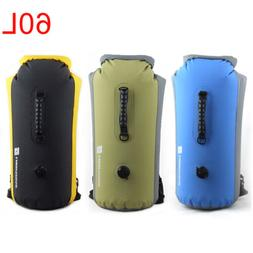 60L Waterproof Dry Bag Backpack Pouch Sport Floating Boating