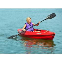 8' Sit-In Stainless Steel Hard Shell Kayak with Paddle Stora