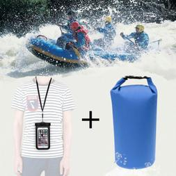 8L Waterproof Dry Bag+Floating Phone Case Pouch for Beach Ka