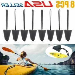 8PCS Silicone Kayak Scupper Plug Kit Canoe Drain Holes Stopp