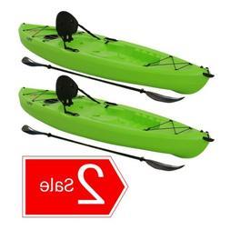 90643 Lifetime Tioga 120  10' Sit on Top Fishing Kayaks + 2