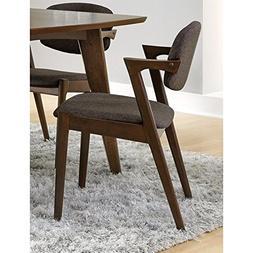 Malone Dining Side Chairs Grey and Dark Walnut