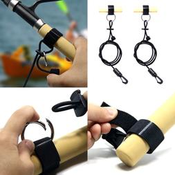 Adjustable Kayak Safety Bungee Paddle Leash Fishing Rod Acce