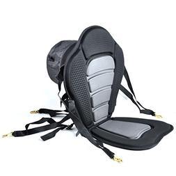 iGuerburn Adjustable Padded Kayak Boat Seat with Detachable