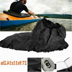 Adjustable Waterproof Nylon Kayak Spray Skirt Cover Water Sp