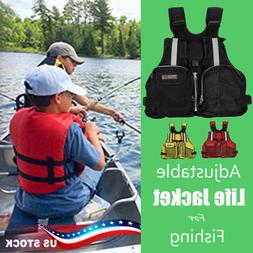 Adult Adjustable Life Jacket Vest Marine Reflective Sailing
