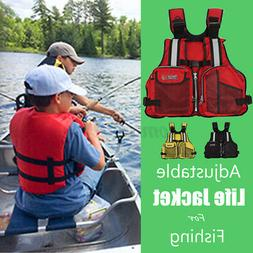 Adult Adjustable Preservers Kayak Life Jacket Vest Reflectiv