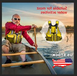 Adult Inflatable Life Jacket Aid Sailing Boating Swimming Ka