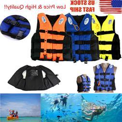 Adults Kids Life Jacket Aid Vest For Kayak Ski Buoyancy Fish
