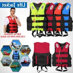 Adults Kids Life Jacket Swimming Fishing Floating Kayak Buoy
