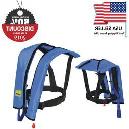 Adults Manual Life Jacket Vest Inflatable Aid Sailing Kayak