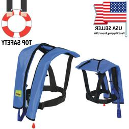 Adults Manual Life Jacket Vest Inflatable Aid Sailing Kayak