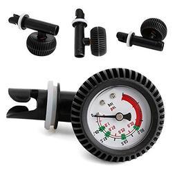 Carole4 Air Pressure Tester, PVC Air Thermometer Pressure Ga