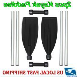 Aluminum 210cm Double-Ended Detachable Afloat Oars Paddles B