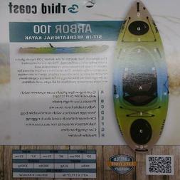 Sun Dolphin Arbor 100 10' Sit-In Recreational Kayak, Lime &