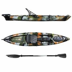 Auklet 12 Foot Single Person Sit On Top Fishing Kayak with S