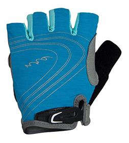NRS Women's Axiom Half-Finger Gloves-AzureBlue-XS