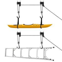 Bicycle Garage Storage Lift Kayak Canoe Hoist Hanger Rack Bl