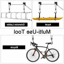 Bike Lift Kayak Hoist Ladder Lift Garage Storage Bicycle Hoi