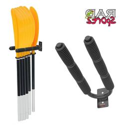 RAD Sportz Black 6 Paddle Hanger Rack for Kayak Oars Holds 6
