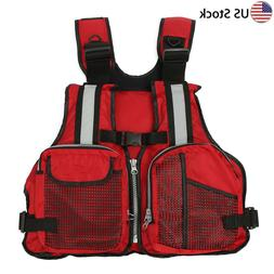 Men/Women Adjustable Life Jacket Vest For Buoyancy Kayak Can
