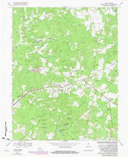 YellowMaps Buckingham VA topo map, 1:24000 Scale, 7.5 X 7.5