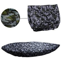 MAYMII Camouflage Kayak Cover 13.8-15ft Kayak/Fishing Boat/B