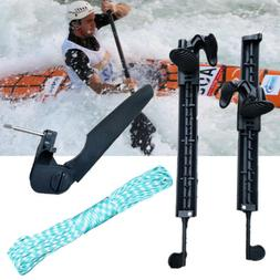 Rudder with Foot Braces Pedal Pegs Kayak Accessory for Water