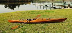 Cedar Wood Strip Built Kayak 15' Boat Woodenboat USA Canoe N
