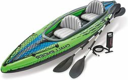 challenger k2 2 person inflatable kayak set