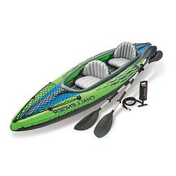 Intex Challenger K2 2-Person Inflatable Sporty Kayak With Oa