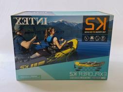 Intex Challenger K2 2 Person Kayak w OARS + PUMP 🔥SHIPS I