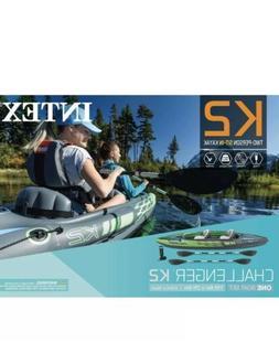 Intex Challenger K2 Kayak, 2-Person Inflatable Kayak Set wit