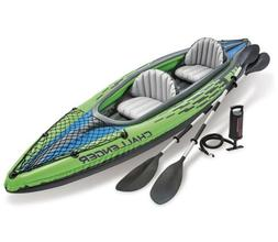 Intex Challenger Kayak K2 2 Person Inflatable Kayak Set with
