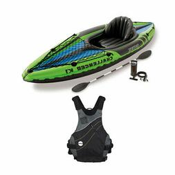 Intex Challenger Sporty Kayak Set & NRS Vapor Adult Small/Me