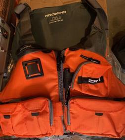 NRS Chinook Mesh Back Fishing PFD Orange L/XL