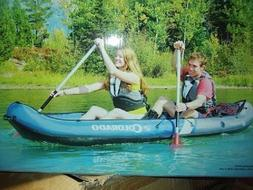 sevylor colorado 2 person inflatable boat canoe