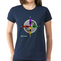 CafePress Compass_Kayak T Shirt Women's Cotton T-Shirt