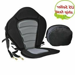 Deluxe Adjustable Safe Padded Kayak Seat with Detachable Bac